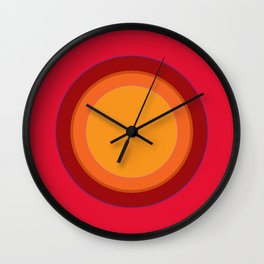 70s Retro Chic sunspot in Kapow Red! Wall Clock