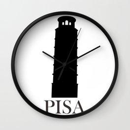 tower of Pisa Wall Clock