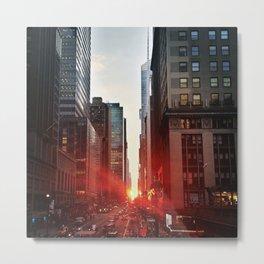 manhattan sunset 6 Metal Print
