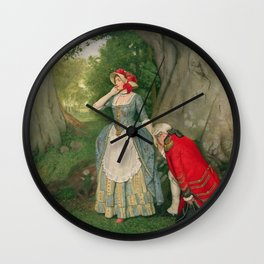 The Proposal by James Dromgole Linton Wall Clock