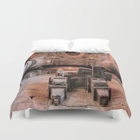 shiva Duvet Covers featuring Temple of Shiva by Four Hands Art