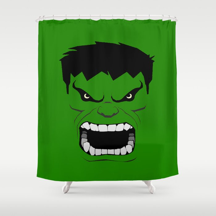 Minimalist Hulk Shower Curtain