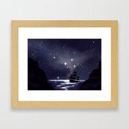 Sailing Stars Framed Art Print