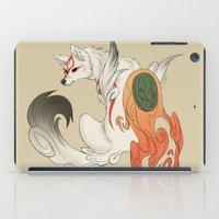 okami iPad Cases featuring Okami Amaterasu  by Ectoimp