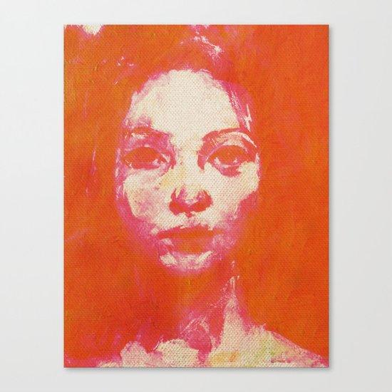 Colorful Woman 2 Canvas Print