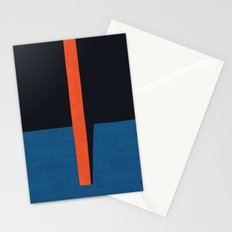 Blue and red modern art VII Stationery Cards