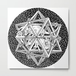 Escher - Stars Metal Print