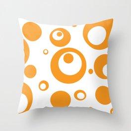Circles Dots Bubbles :: Marmalade Inverse Throw Pillow