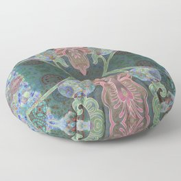 Elegant Detailed Orchid Meditation Pattern Floor Pillow