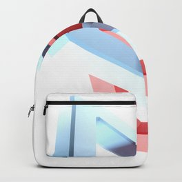 Abstract chain on white background - 3D rendering Backpack