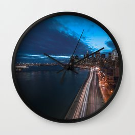 Blue Hour New York City Wall Clock
