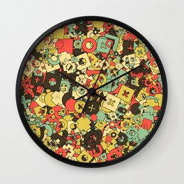 Nineteen Shapes Wall Clock