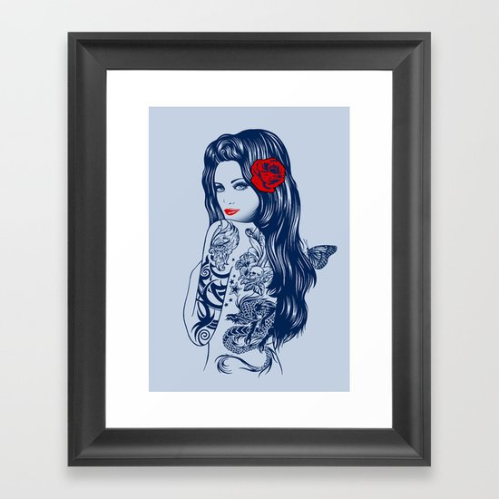 Tattoo Lolita Framed Art Print
