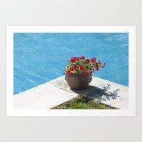 pot in pool Art Print