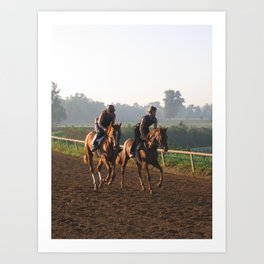 The Beginners - Young Thoroughbred Horses Learn to be Race Horses Art Print