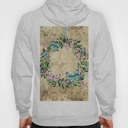 Wreath #Flowers & Butterflies#Royal collection Hoody