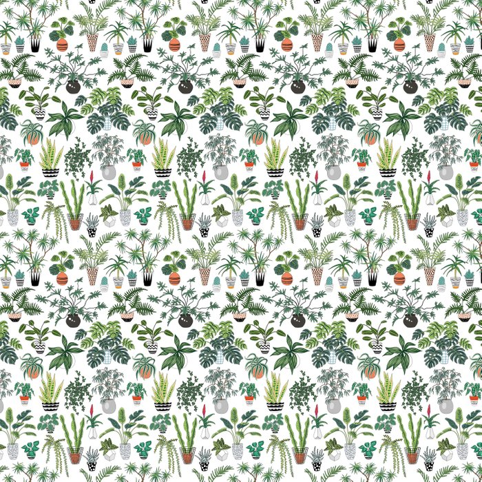 plants and pots pattern Comforters