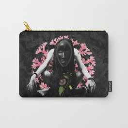 Passion Flower Tribal Collage Carry-All Pouch
