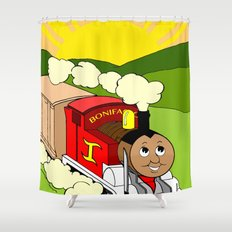 Bonifacio The Train Shower Curtain