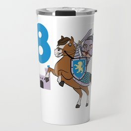 8th Birthday Great gift idea for every knight and Fairy tale fan for birthday T-shirt Design Travel Mug