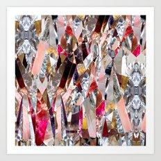 Crystal madness Art Print