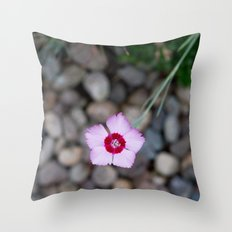 Purple Flower 2 Throw Pillow