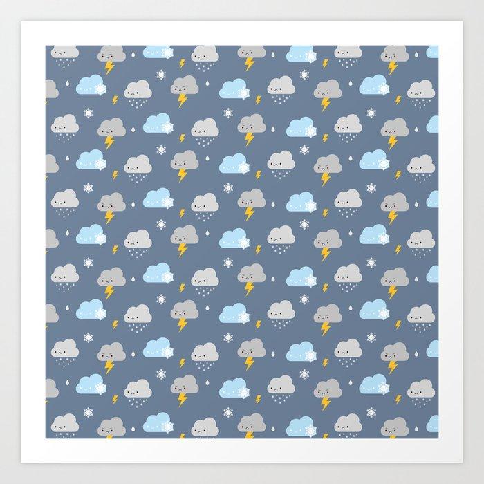 Kawaii Stormy Weather Kunstdrucke