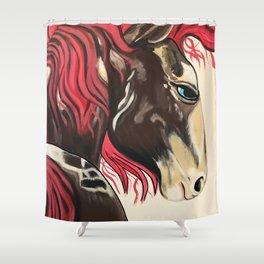 Cinnamon Horse by Noelles's Art Loft Shower Curtain
