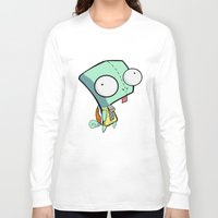 squirtle Long Sleeve T-shirts featuring GIR Squirtle  by Diffro