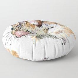 Little Brown Mouse Floor Pillow