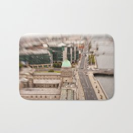 Dublin city center aerial view Bath Mat
