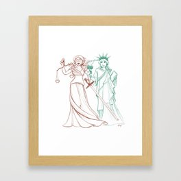 Liberty and Justice Framed Art Print