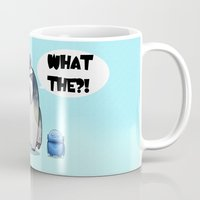 yeti Mugs featuring Yeti by Mr Meowmer