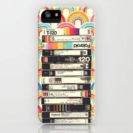 VHS & Rainbows iPhone Case