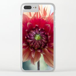 Dahlia In The Garden / 34 Clear iPhone Case
