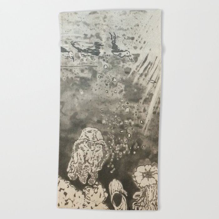 MoonSea EcoSystem Black and White Beach Towel
