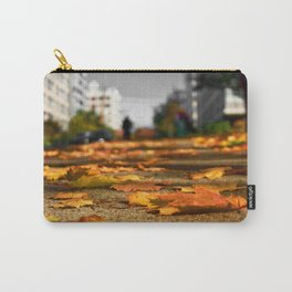 Leaves on The Sidewalk Carry-All Pouch