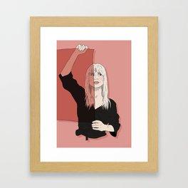 Rose-Colored Girl Framed Art Print