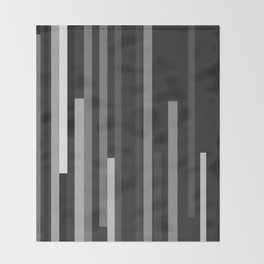 Black Lines Throw Blanket