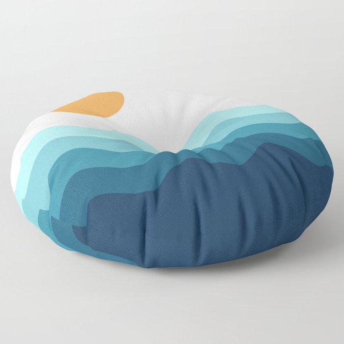 Abstract Landcape 14 Portrait Floor Pillow