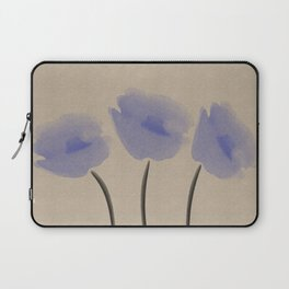 Blue  Anemone Laptop Sleeve