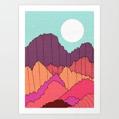 Mountain Cliffs  Art Print