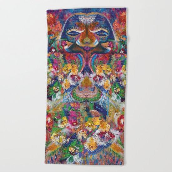 Flower Fairy Beach Towel