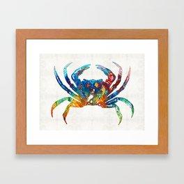 Colorful Crab Art by Sharon Cummings Framed Art Print