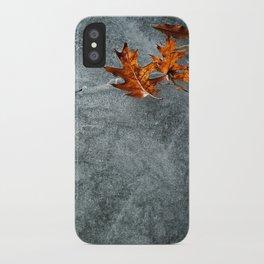 Autumn Leaves on Ice iPhone Case