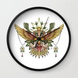 Sun Owl Wall Clock