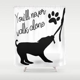 Dogwalker Shower Curtain