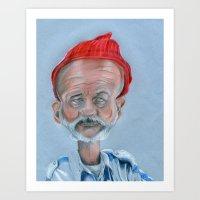 zissou Art Prints featuring Zissou by Tristan Chace