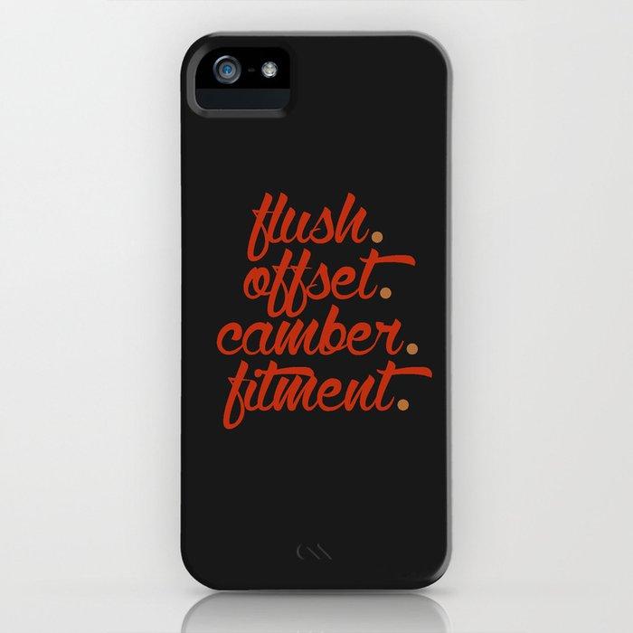 flush offset camber fitment v1 HQvector iPhone Case