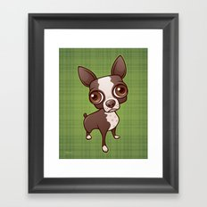 Zippy the Boston Terrier Framed Art Print